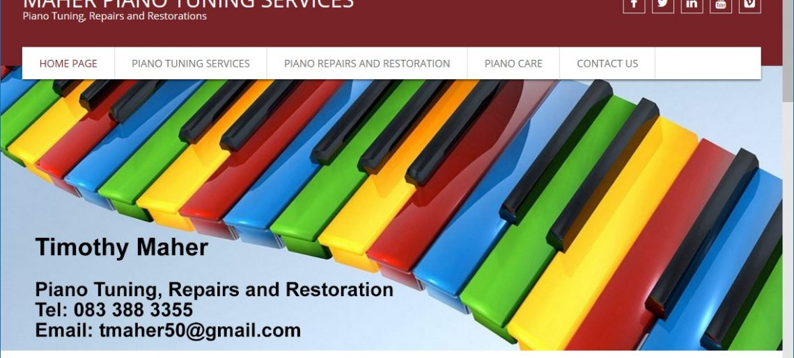 New Maher Piano Tuning Website