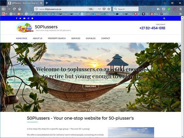 50-Plussers new website design