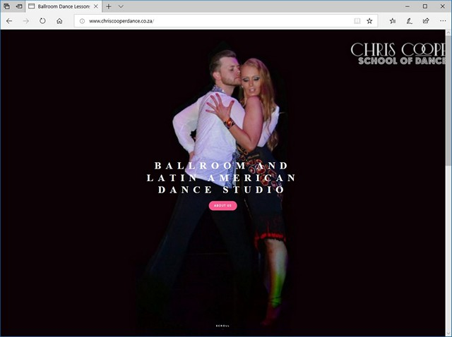 Chris Cooper Dance website redesign