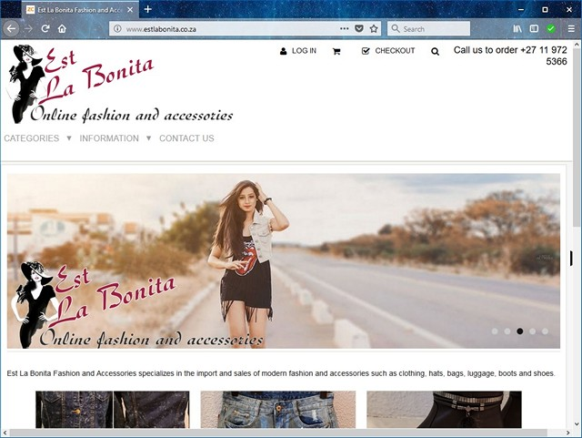 Est La Bonita new website design