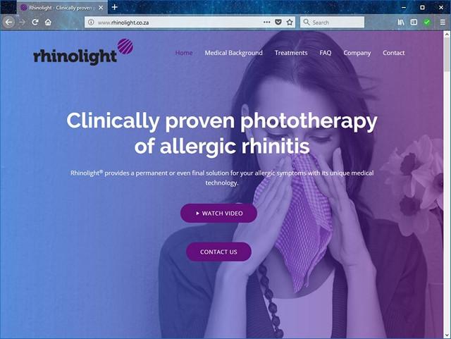 Rhinolight new website design