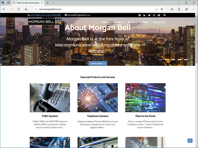 Morgan Bell website redesign