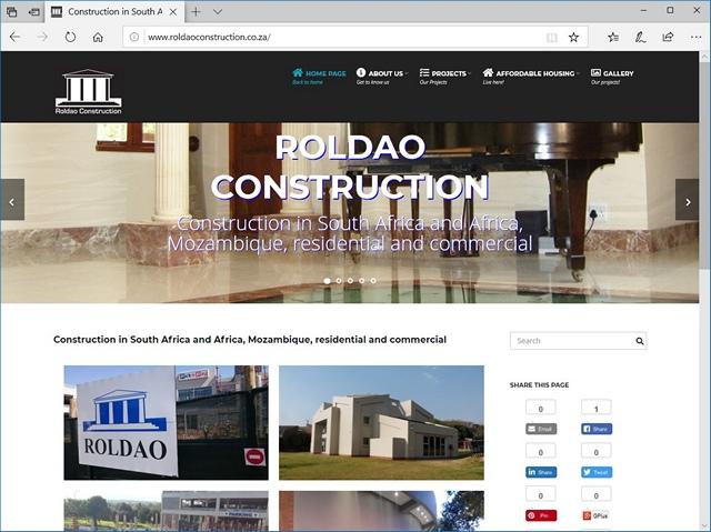 New Roldao Construction Website